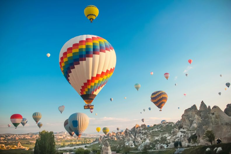 Hot air baloon in Cappadocia